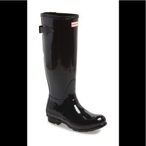 Hunter tall original black Gloss Rain Boots 7us